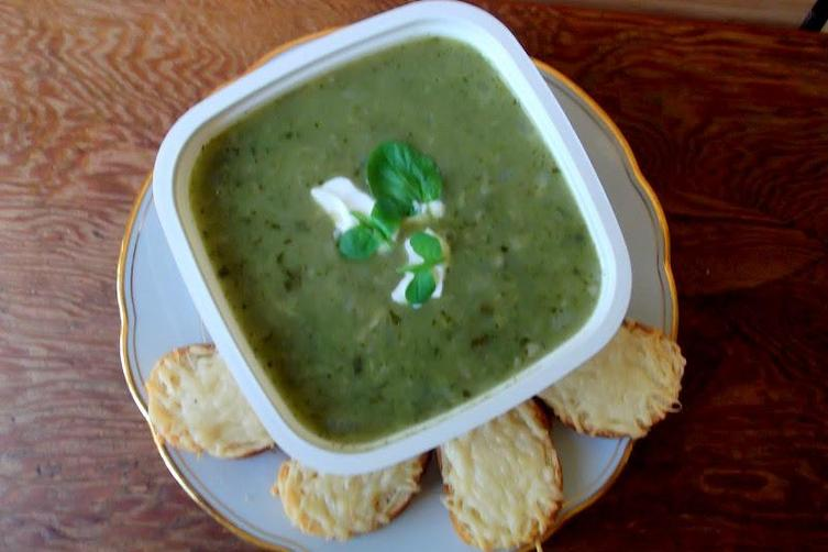 Fresh Watercress, Potato and Celery Root Soup
