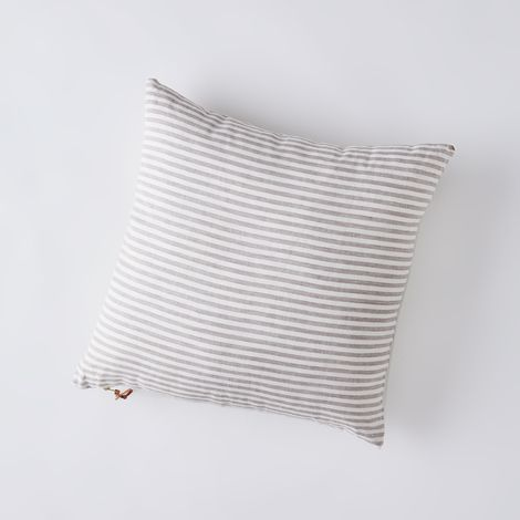 Oatmeal Stripe Square Pillow