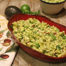 Warm Avocado and Corn Salad