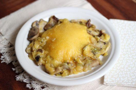 Mushroom and leek Shepherd's Pie