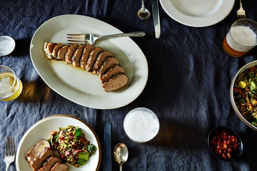 Basil-Ginger Marinated Pork Tenderloin