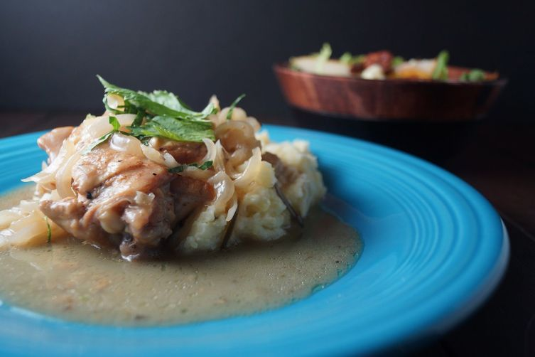 Apple Cider Braised Chicken