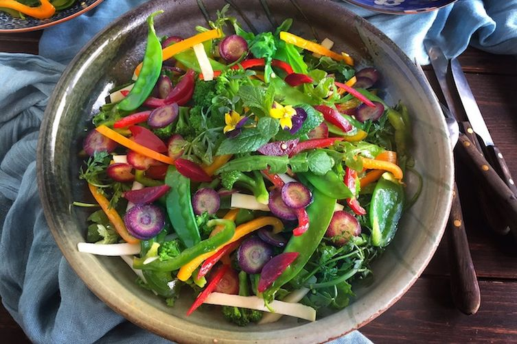 Spring Salad with Wild Herbs