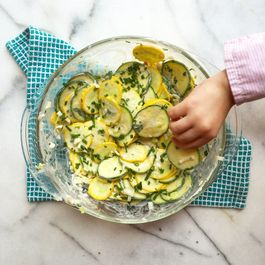 Zucchini and Leek Buttermilk Ranch Salad