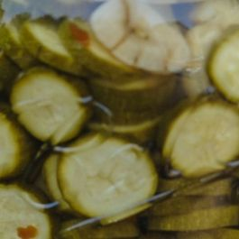 Zucchini Pickles with Chilies and Garlic