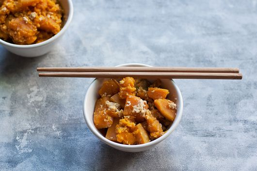 Kabocha Squash (Japanese Pumpkin) Braised in Milk