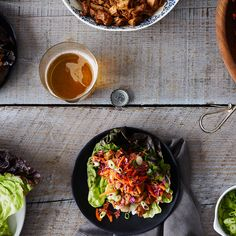 Asian-Inspired Chicken Lettuce Wraps with Slaw