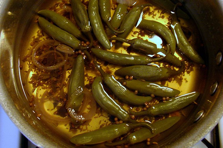Pickled Green Chiles