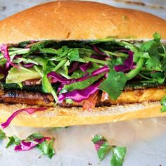 Tofu Bacon Avocado Bahn Mi