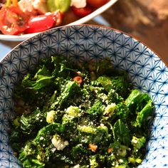 LEMONY KALE SALAD WITH A KICK