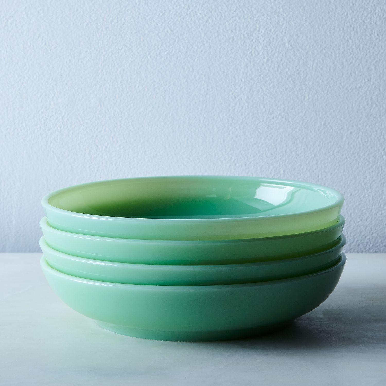 Jadeite Glass Shallow Bowls Set Of 4 On Food52