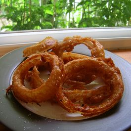 Beer-Battered Mesquite Onion Rings