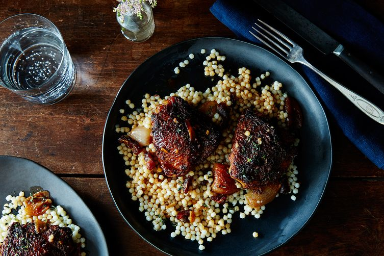 Moroccan-Spiced Chicken with Dates and Shallots
