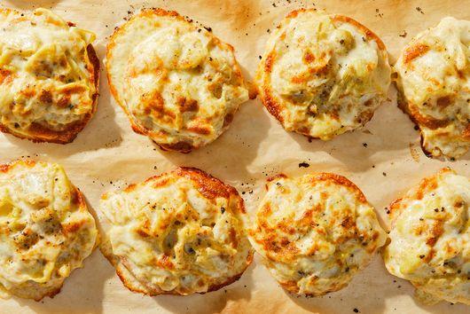 Cheesy Artichoke Melts With Crushed Nori