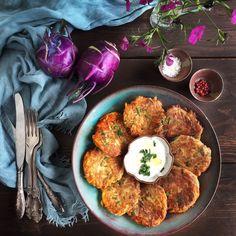 Kohlrabi Fritters with Meadow Parsley