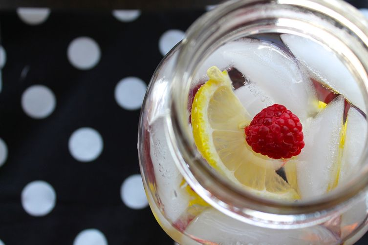 Raspberry Lemon Infused Water