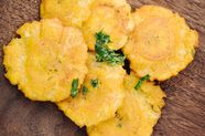 Roofeeo's Tostones (Fried Green Plantains)