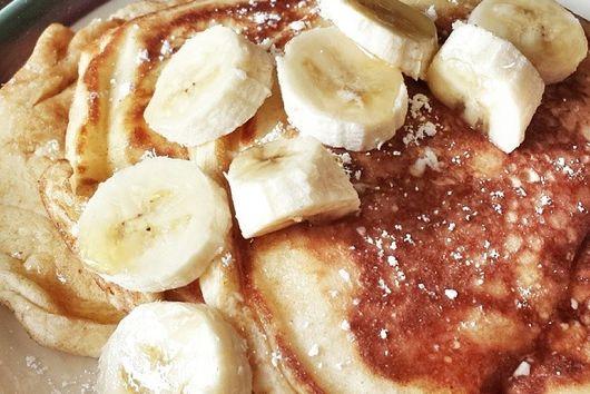 White Chocolate Banana Pancakes
