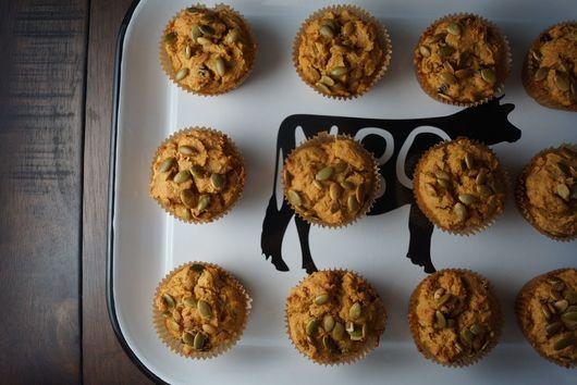 Maple Pumpkin Cranberry Muffins