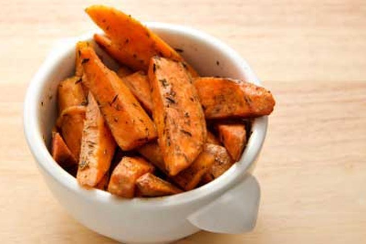 Garam Masala Spiced Sweet Potato Wedges