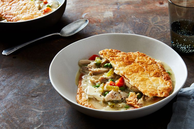 Chicken Pot Pie (with Crust on the Bottom!)