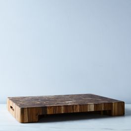 End Grain Cutting Board with Plate Cut-Out