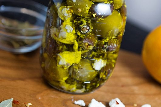 Marinated Olives with Feta and Coriander