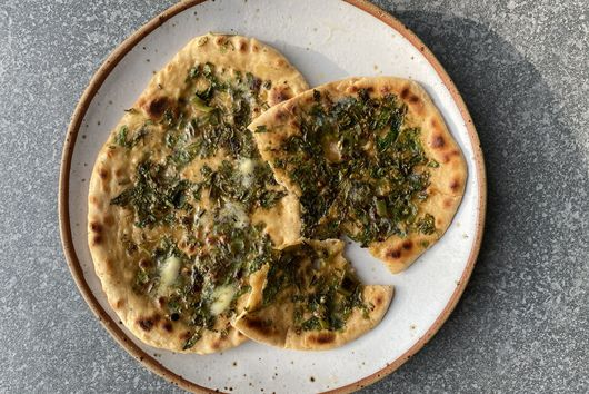 Green Chile Naan