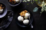 Labneh Ice Cream with Pistachio-Sesame Brittle
