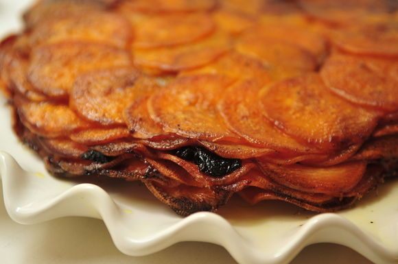 Sweet Potato Anna with Prunes