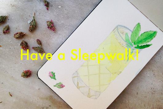 Sleepwalk: a summer cockteil recipe with herbs