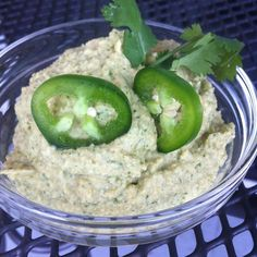 Hummus with Artichokes, Cilantro & Serrano pepper