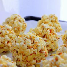 Baked Almond Miso Popcorn Balls with Honey and Ginger