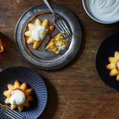 Honeyed Sweet Corn Cakes
