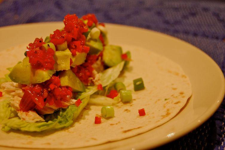 Aromatic Chicken Tortillas with Smoky Pepper Salsa