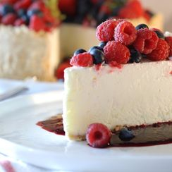 Frozen Lime Torte with Mixed Berries