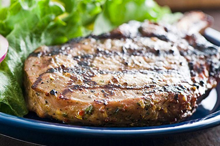 Grilled Porter Pork Chops