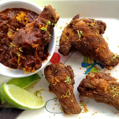 Choco-Chili Chicken Wings