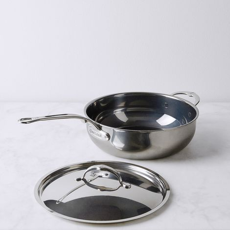 Hestan Nanobond Stainless Steel 5qt Covered Essential Pan