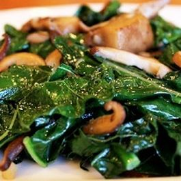Coconut Kale Sauté with Mushrooms