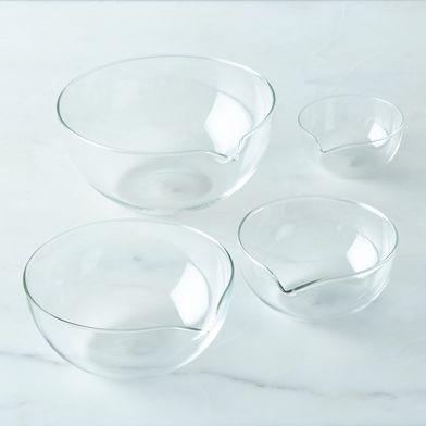 Borosilicate Glass Nesting Prep Bowls (Set of 4)