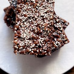 Chocolate Tahini Crunch Bars