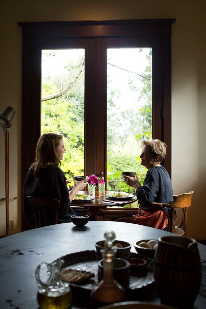 A morning ritual: Mother and daughter start their days over cups of pu-erh, fermented Chinese black tea (Alice's obsession).