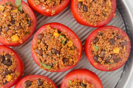 Southwestern Quinoa Stuffed Tomatoes