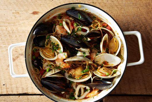 Smoky Seafood Fideos