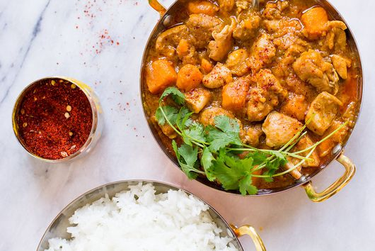 Instant Pot Chicken and Sweet Potato Coconut Curry
