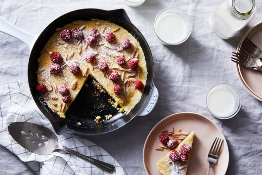 Raspberry and Almond Skillet Cookie