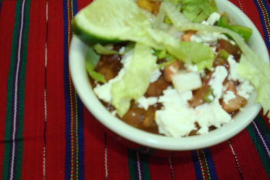 """""""Snowcap"""" Chili, Guacamole & Garnishes"""
