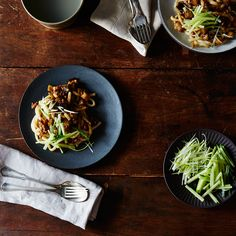 Zhajiang Noodles with Eggplant