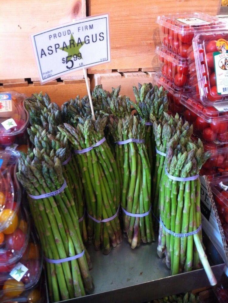 Proud, firm asparagus.